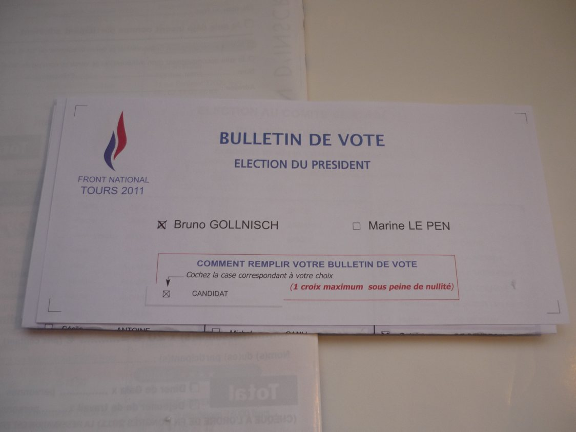 Vote en faveur de Gollnisch